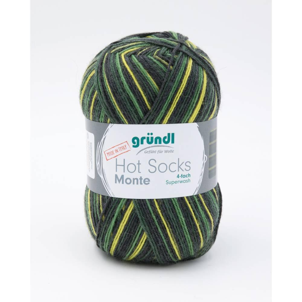 Hot Socks Monte 4 fach Sockenwolle Farbe 03 Firma Max Gründl Bild 1