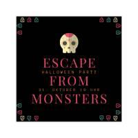 Einladung zur Halloween-Escape Game-Party, personalisierbares Printable Bild 1