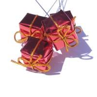 Päckchen am Draht 8 Stück Adventsdeko