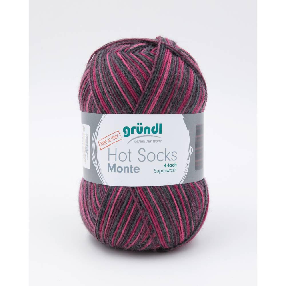 Hot Socks Monte 4 fach Sockenwolle Farbe 04 Firma Max Gründl Bild 1