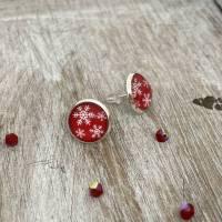 Schneeflöckchen Ohrringe - Weihnachts-Accessoire Bild 1