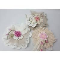 3er Set Deko-Blüten im vintage look (001) Bild 1