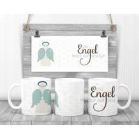 Keramiktasse/Keramikbecher Schutzengel/Engel/Ein Engel passt auch dich auf Bild 1