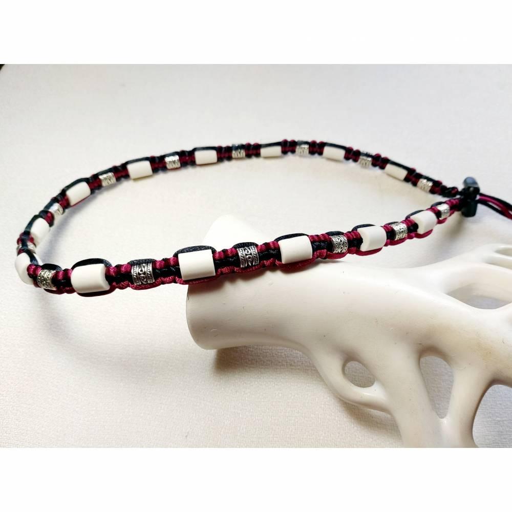 EM-Keramik Halsband Schwarz/Bordeaux Bild 1