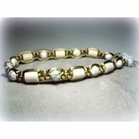 EM-Keramik Halsband in Goldfarben Bild 1