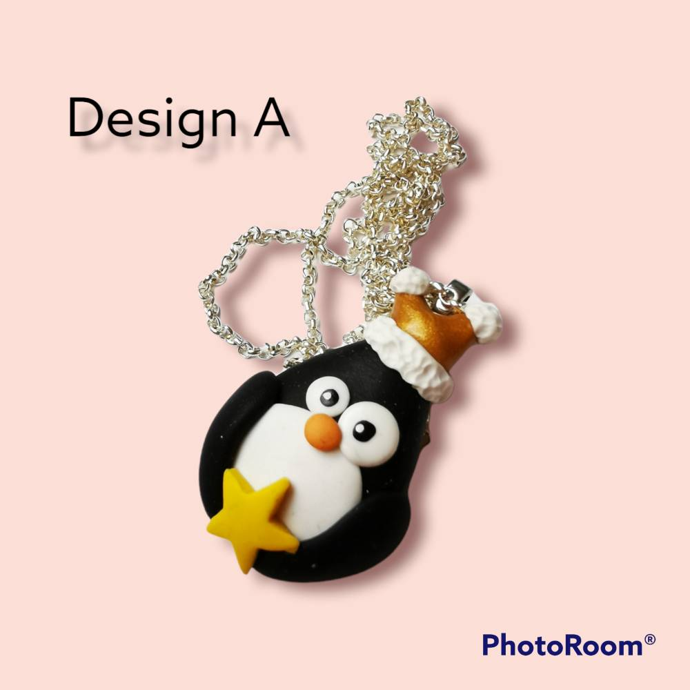 Pinguin, Kette, Geschenk, Winter, Kawaii Bild 1