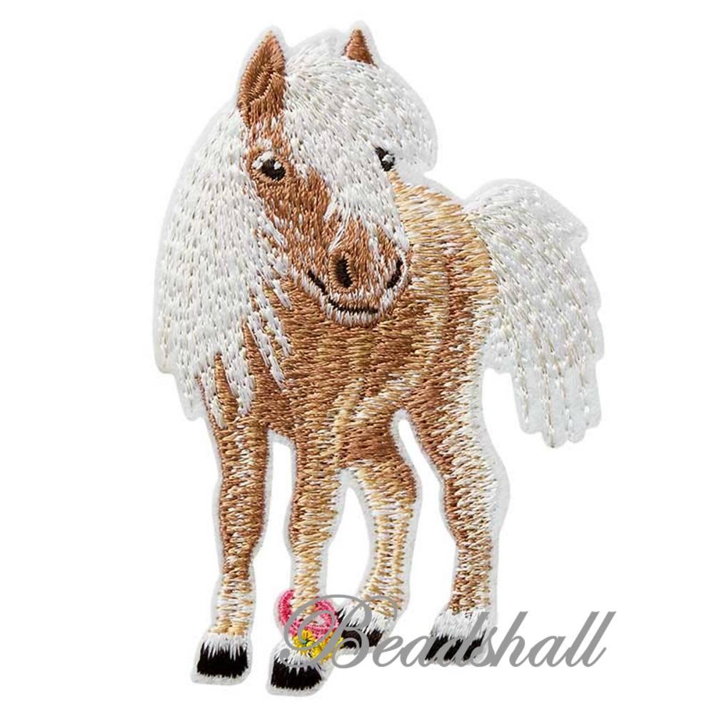 Bügelbild Pony Applikation Dekoaufkleber kleines Pferd Bild 1