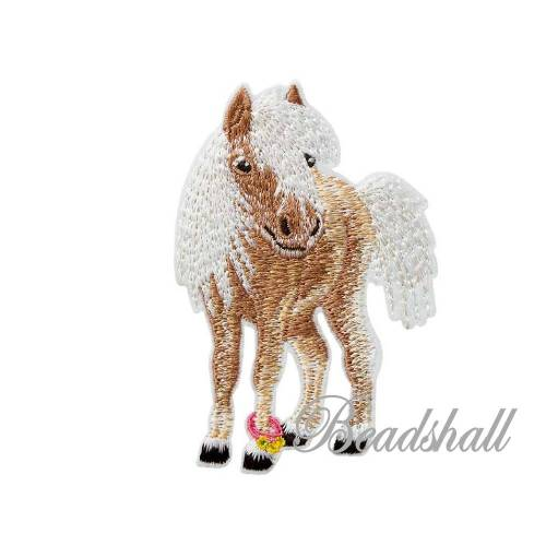 Bügelbild Pony Applikation Dekoaufkleber kleines Pferd