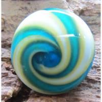 Ringtop Glas Bead Lampwork Türkise Spirale Bild 1