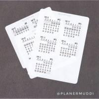Planersticker Kalenderwochen Q 2/2021 Bild 1