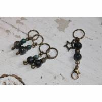 Handgemachtes Set aus Maschenmarkierern, Labradorit und Apatit Bild 1