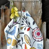 VOGELGEZWITSCHER | Geschirrtuch, reine Baumwolle Trockentuch Küchentuch, Geschenke, plastikfrei,  Bild 1