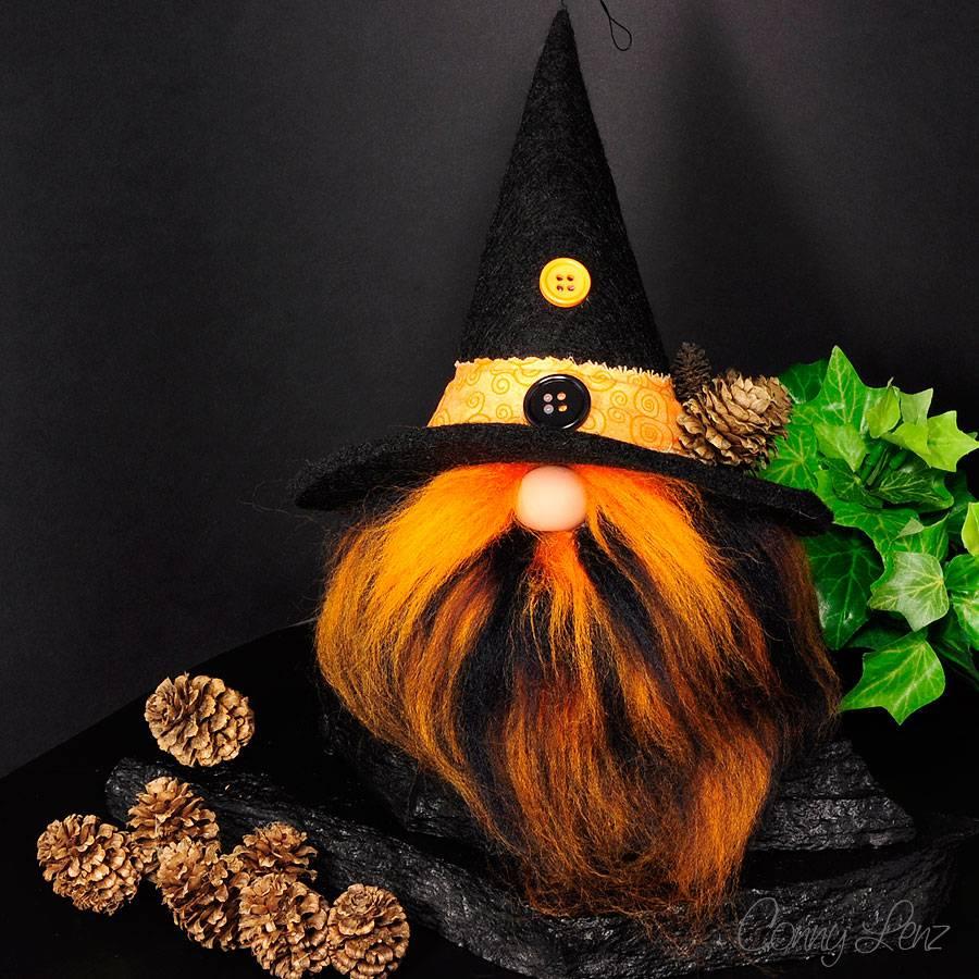Herbst & Halloween Wichtel   Hallo-Weeny   Höhe ca. 25 cm   handgenäht   Unikat Bild 1