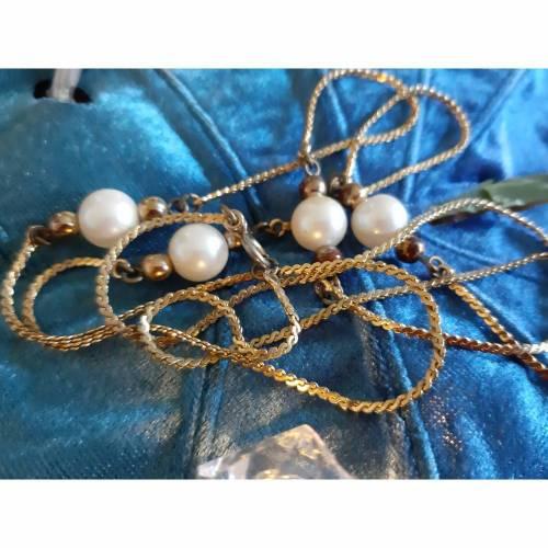Vintage Kette mit Perlen
