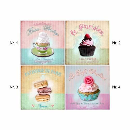 Fliesenaufkleber - Fliesenfolie - Cupcake - Patisserie - 13001