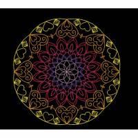 """""""  Redwork - Mandala der Herzen  """"  Stickdateien in sechs verschiedenen Größen  /  div. Formate  Bild 1"""