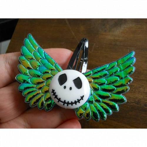 Engelsflügel irisierend Skull Haarspange Stoff gothic