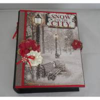 Weihnachtsalbum Snow and the City Scrapbook Album  Bild 1