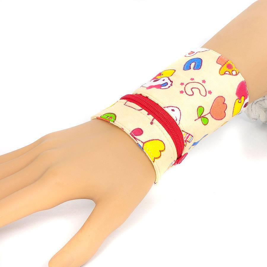 """Kids-Handgelenk-Portemonnaie   Geldbeutel   """"Kid 01""""   mit Reißverschluss, Druckknöpfe und Schlüsselring   Einzelstück Bild 1"""