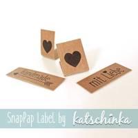 SnapPap Label mit Liebe (4 Stück), SnapPap Etiketten Bild 1