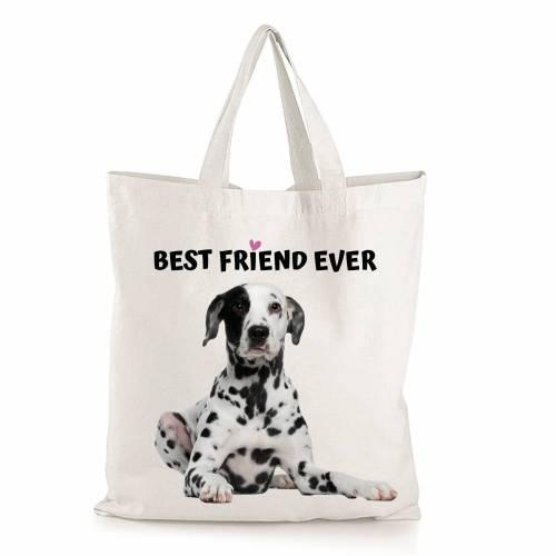 Einkaufstasche mit Hundemotiv Dalmatiner Best Friend ever