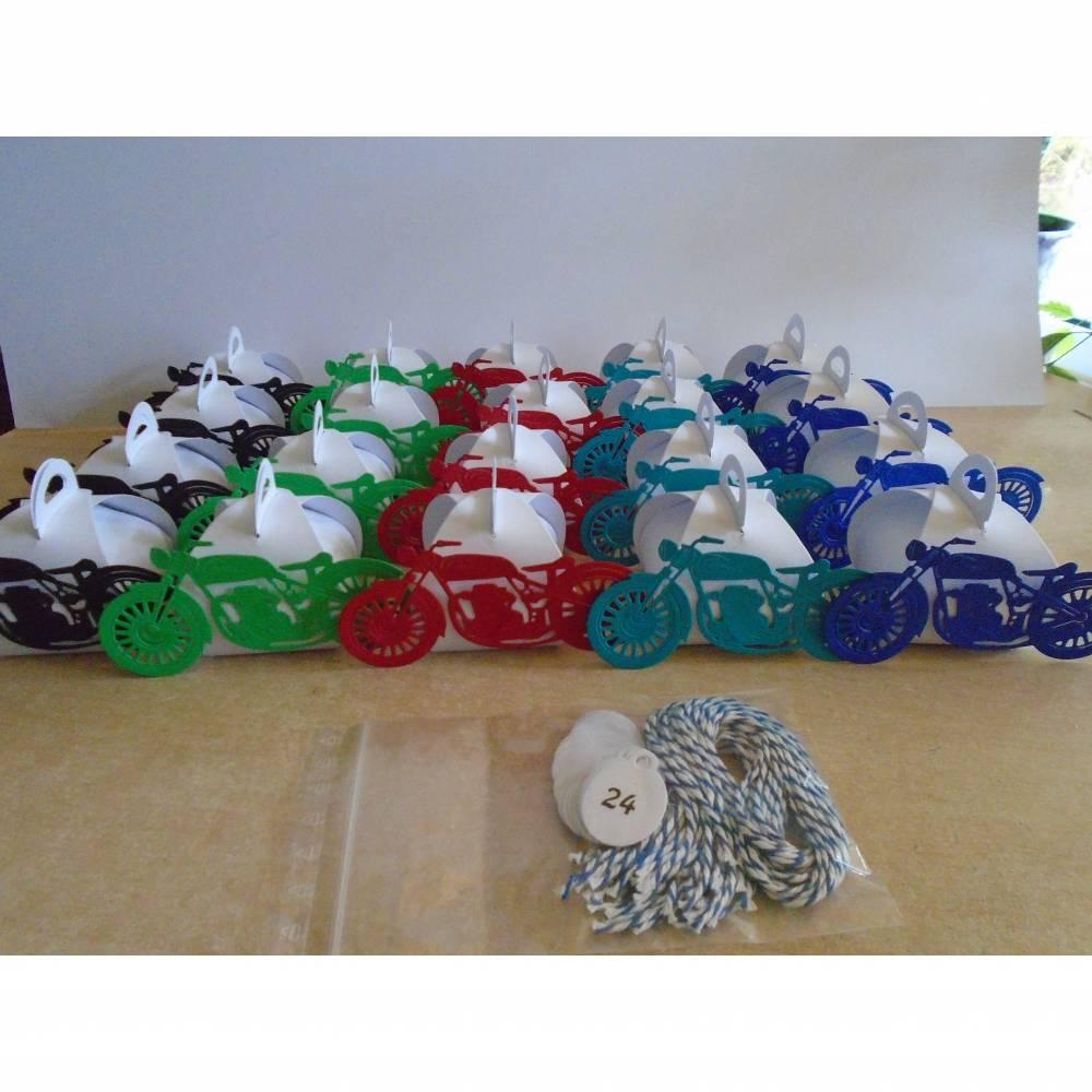 Adventskalender Motorrad Weihnachtskalender Kinder Mann Zierschachteln Boxen Schachteln zum  Befüllen Junge  Bild 1