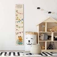 Abschiedsgeschenk Vorschulkinder, Schule, Holz - Messleiste für Kinder, personalisiert mit Namen der Schulkinder und Text, Motiv: Giraffe Bild 1