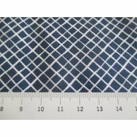 Baumwollstoff Baumwolle Popeline Raute dunkelblau/weiß Oeko-Tex Standard 100(1m /8,00€) Bild 1