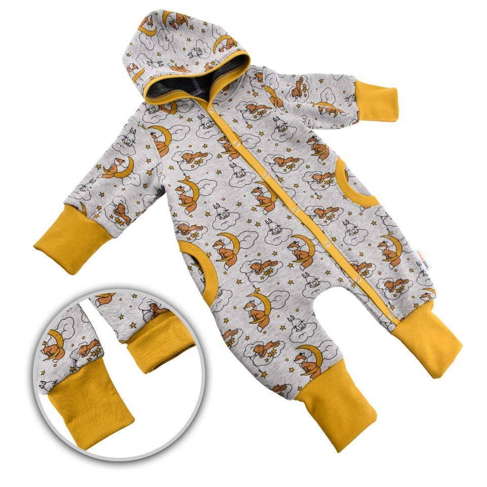 """Baby Kinder Jungen Mädchen Unisex Overall Jumpsuit Thermo gefüttert Happy Fleece """"Wolkenreiter"""" Gr. 50 56-62 68-74 80-86 92-98 104-110 116-122 Geschenk Geburt Weihnachten Winter  Bild 1"""