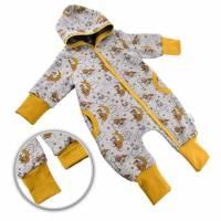 """Baby Kinder Jungen Mädchen Unisex Overall Jumpsuit Thermo gefüttert Fleece """"Wolkenreiter"""" Gr. 50 56 62 68-74 80- Bild 1"""
