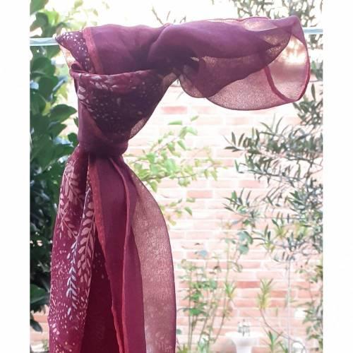 EXKLUSIVER Vintage Seidentuch von MONIQUE VALERY -EDEL- Seidenschal handgerollt aus den 80er - 90 er Jahren