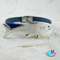 Hai echt Leder Armband für den Mann in Wunschlänge ART 4100 Bild 1