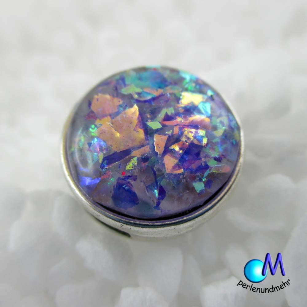 Faux Opal blau Schiebeperle HANDARBEIT Hochglanz versiegelt ART 4143 Bild 1