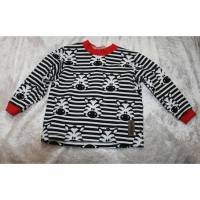 Kinder Pullover Gr. 92 Sommersweat genäht mit Overlock Handarbeit Zebra Kinderpullover Bild 1