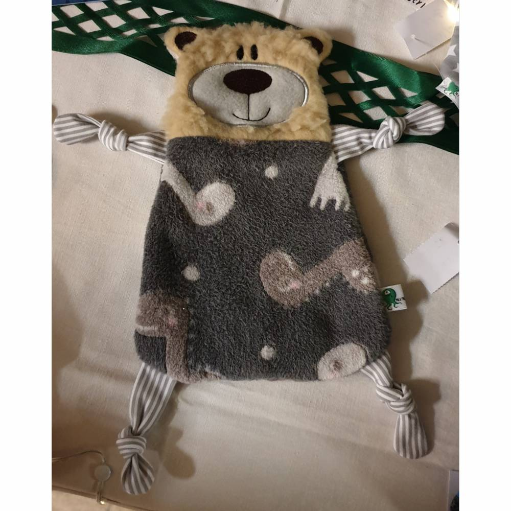 Schnuffeltuch Teddy Greifling Handmade Dino Bild 1