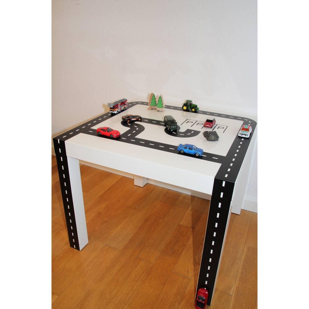 Spielzeug Strasse zum Aufkleben aus Klebefolie, Möbelfolie, Aufkleber, Möbelaufkleber, Dekor Bild 1