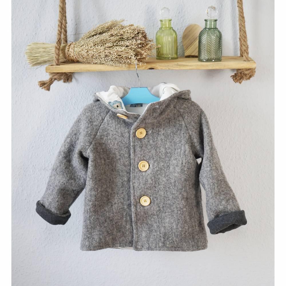 Walkmantel, Walkjacke muselingfrei - gefüttert für Baby und Kleindkind Bild 1
