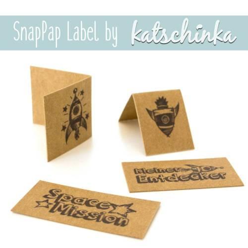 SnapPap Label Rocket Star (4 Stück), SnapPap Etiketten