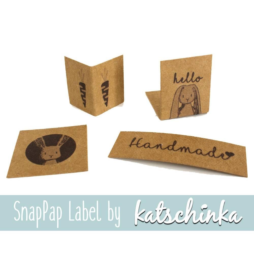SnapPap Label Hallo Hase (4 Stück), SnapPap Etiketten, Bunny, Häschen Katschinka Bild 1