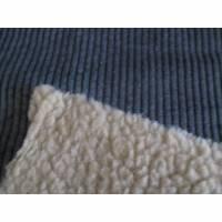Cord mit Fellabseite dunkelgrau (1m/18,-€) Bild 1