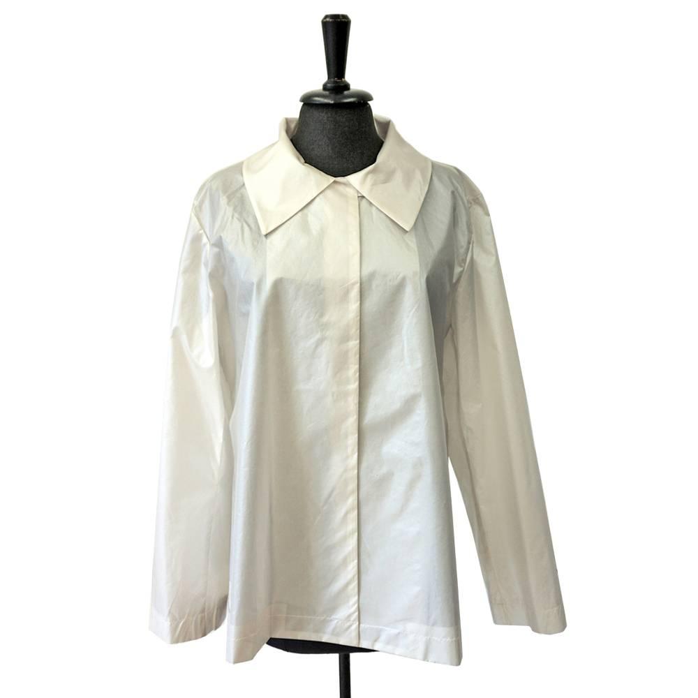 SEIDENJACKE kurze Jacke mit Siebdruck, glänzend, creme, Hochzeit, A-Silhouette Bild 1