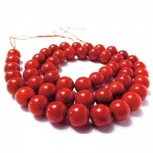 8 mm  Koralle Edelstein Strang, Kettenstrang, Perlen Rot