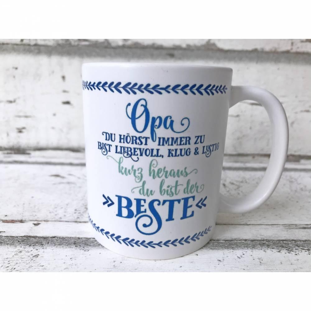 Tasse,Opa, 330ml, Keramik, bedruckt,personalisierbar Bild 1