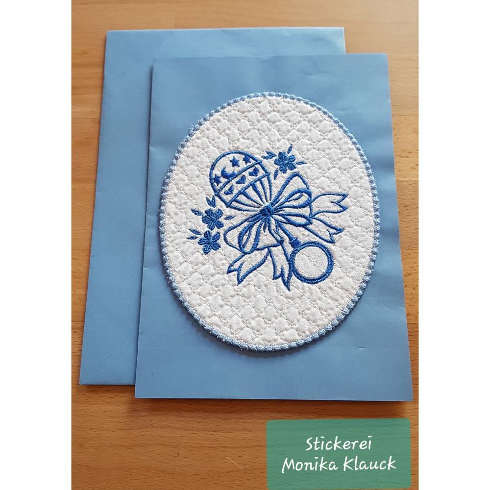 Glückwunschkarte zur Geburt eines Babys  Bild 1