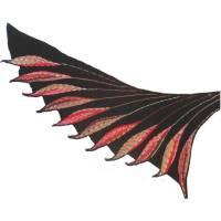 Damen Schultertuch Stola Flügel handgestricktes Einzelstück Unikat Bild 1