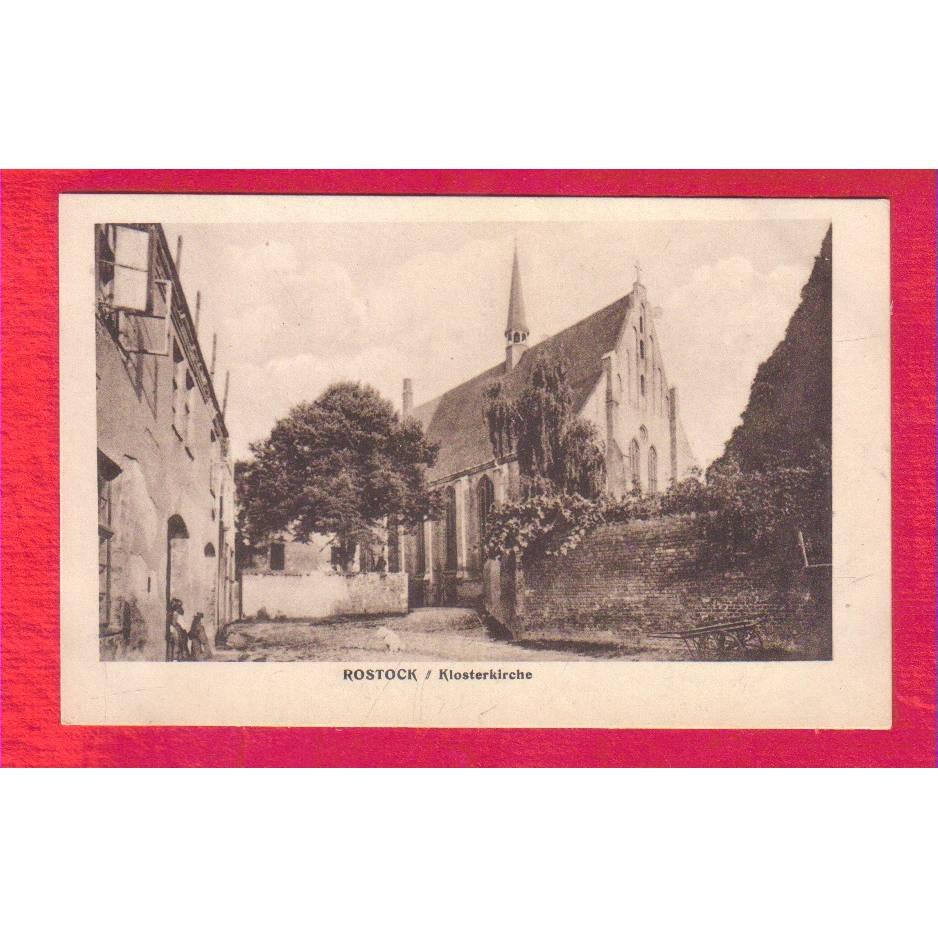 AK - Alte Ansichtskarte - Rostock Klosterkirche - ca. 1925 Bild 1