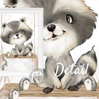 Kinderzimmer Bilder Babyzimmer Poster Waldtiere Tiere Boho Kinderbild   A4 Bild 6