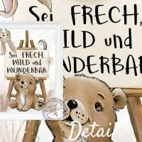 Kinderzimmer Bilder Babyzimmer Poster Waldtiere Tiere Boho Kinderbild   A4 Bild 7