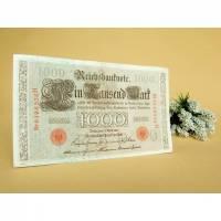 Vintage - Alte Reichsbanknote 1000 Mark Geldschein Banknote Geldgeschenk Deko Bild 1