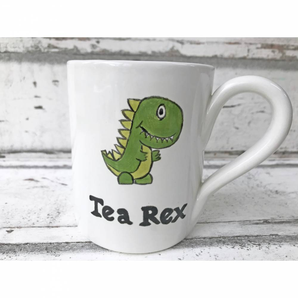 Tasse,Tea Rex, Teetasse 350ml, Keramik handbemalt Bild 1